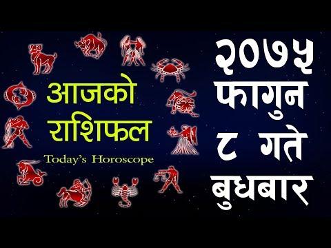 (Aajako Rashifal 2075 Fagun 8, Today's Horoscope February 20, Wednesday  फागुन २० गते बुधबार - Duration: 7 minutes, 50 seconds.)