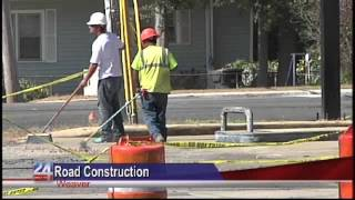 Road Construction in Weaver