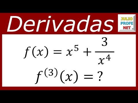 Tercera derivada de una función algebraica