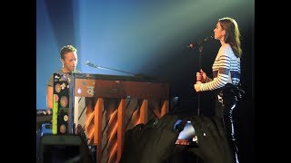 Dua Lipa and Chris Martin - Homesick live in Sao Paulo, Brazil 11/09/17 HD