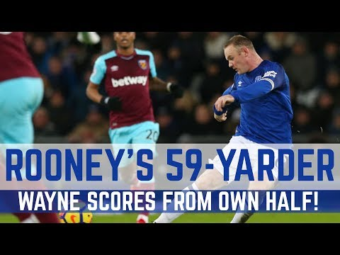 ROONEY SCORES FROM HIS OWN HALF: 59-YARD STRIKE V WEST HAM