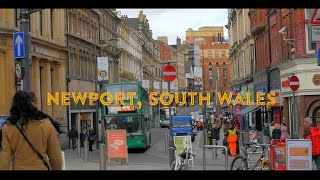 Newport United Kingdom  city images : A Day in Newport City Centre Slo Mo