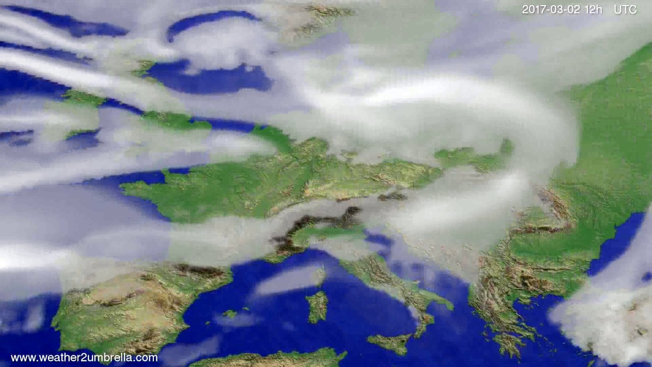 Cloud forecast Europe 2017-02-26
