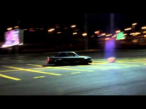 Drifting BMW crashes into a pole
