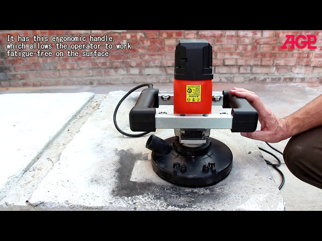 AGP SM7 Concrete Grinder – Operation 磨石機 操作示範