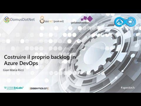 Costruire il proprio backlog in Azure DevOps