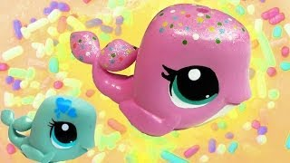 Custom LPS Whale Pink Rainbow Sprinkle Vanilla Cake Inspired DIY Littlest Pet Shop - YouTube