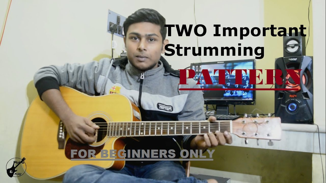 Tutorial 5:Beginner Acoustic Guitar Lesson-Two most important strumming pattern