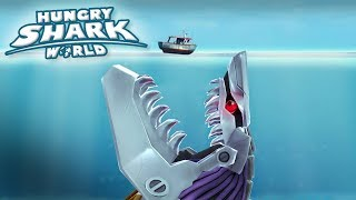 MAXED ROBOT SHARK!!! - Hungry Shark World | Ep 64 HD