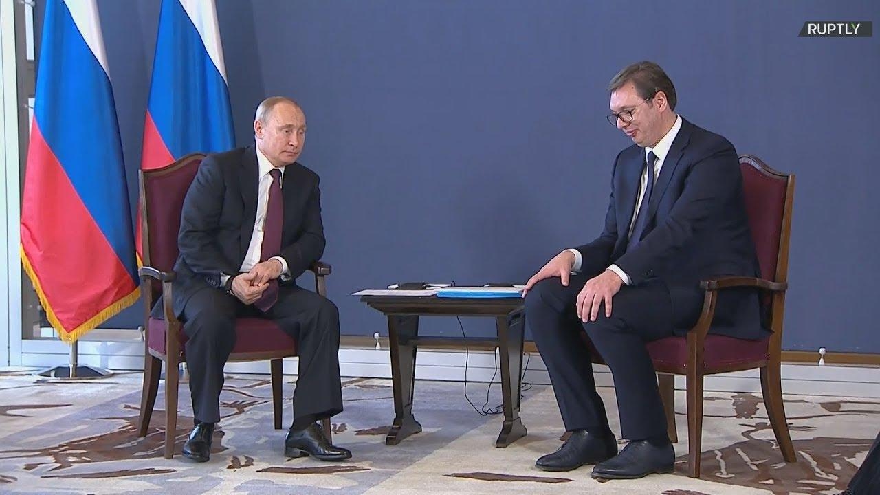 Σερβία: Συνάντηση του Βλαντιμίρ  Πούτιν με τον Αλεξάντερ Βούτσιτς