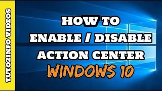 """How to Enable or Disable Action Center in Windows 10  Really EasyOpen RUN & type below mention cmd...""""shell:::{05d7b0f4-2121-4eff-bf6b-ed3f69b894d9}"""""""