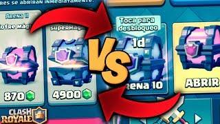 ▶ Página Tap & Play en TGX: http://bit.ly/TapNPlayXheo- Copa Cohete: http://bit.ly/CRCohete1Xheo- Copa Tornado: http://bit.ly/CRTornado1Xheo- Copa Rayo: http://bit.ly/CRRayo1XheoCofres gratis vs cofres de gemas en Clash Royale! ¿Hay alguna diferencia? ▶Dejadme vuestro LIKE y SUSCRIBIROS si os ha gustado!http://goo.gl/SpByBU ✔▶Sígueme en mis Redes Sociales!● Twitter - https://twitter.com/XheoGaming● Instagram - https://www.instagram.com/xheo_official/●Correo de contacto: xheogaming@gmail.com▶Mis Series:★Los Mejores Mazos:https://www.youtube.com/watch?v=PBmU9f_0VXw&list=PLtX_9JrnThGpPS7W9j7YsONz1keUYYXEu★Secretos Ocultos y Curiosidades: https://www.youtube.com/watch?v=WbCcBiQISDo&list=PLtX_9JrnThGpp-TPh3EHBD5N9EX9F7GuF★Abriendo Cofres:https://www.youtube.com/watch?v=l7v-X9T-vt8&list=PLtX_9JrnThGqz5pZOJhPDjNds_-YAbHNP★Lo Mas Épico: https://www.youtube.com/watch?v=UG3NmnlmwTA&list=PLtX_9JrnThGq5myAtWcKQxCP_bQqykzPL★Consigue MILES DE GEMAS 100% Gratis! Descarga la aplicacion WHAFF e introduce el código: XHEO111 para poder hacer sorteos y mucho más!► ¿QUIERES LAS MEJORES GAFAS DE SOL DEL MERCADO?Pincha aquí y consigue un 25% de descuento en las series Original y Moon en AFTER Sunglasses: https://www.aftersunglasses.com/xheo▶ Donaciones: paypal.me/xheogamingTodo lo donado es agradecido y se invertirá en mejorar el canal!