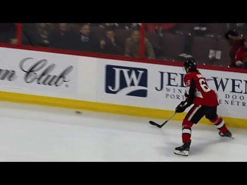 Video: Karlsson celebrates 8-year anniversary of first-career goal against Wild by scoring on Wild