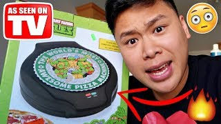Video THIS INSTANTLY MAKES PERFECT PIZZA!!!!! (TESTING CRAZY GADGETS) MP3, 3GP, MP4, WEBM, AVI, FLV Oktober 2018