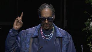 Nipsey Hussle Memorial: Watch Snoop Dogg's Tearful Tribute