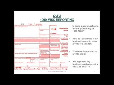 1099-Misc Reporting Questions & Answers