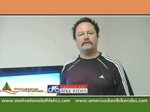Ted exercises with an indoor cycling training dvd and video to lose weight – Day 18 of 90