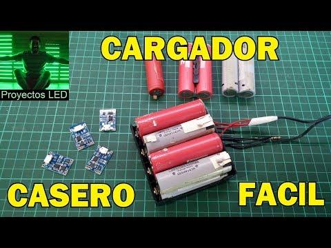 Videos caseros - Cargador casero de 18650 litio, muy facil