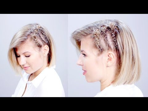 HAIRSTYLE OF THE DAY: Edgy Short Hairstyle with Braids   Milabu (видео)
