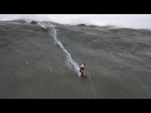 Nazare Big Wave Surfing from drone November 12 2019 4k