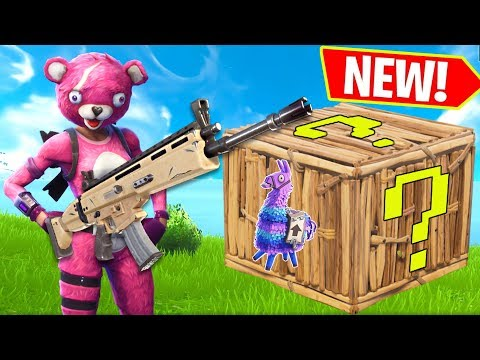 NEW LUCKY LLAMA GAME!!! - Fortnite Battle Royale (видео)