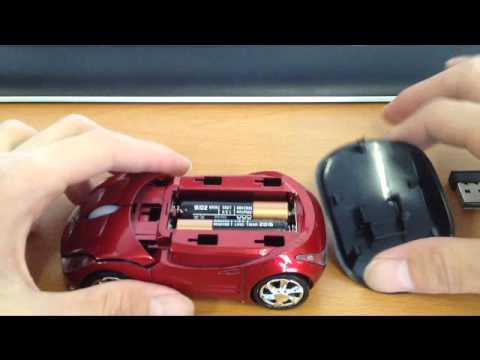 How to install batteries for car mouse
