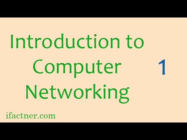 ... TO COMPUTER NETWORKS: Networking Tutorials For Beginners 1