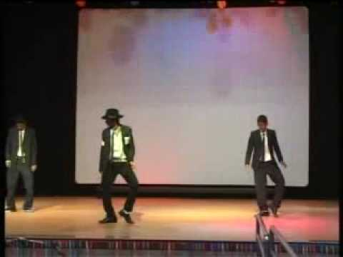 An imitation of Michael Jackson on New Year at Jain International Residential School