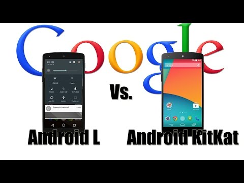 Android L vs. KitKat