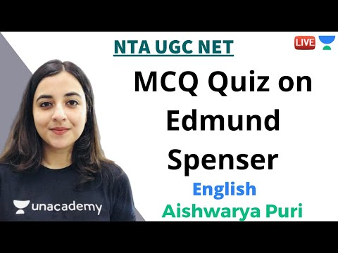 MCQ Quiz on Edmund Spenser   English   Unacademy Live - NTA UGC NET   Aishwarya Puri