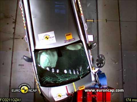 Opel/Vauxhall Zafira euroncap çarpışma / güvenlik testi videosu