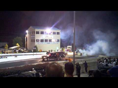 Jet-powered Hearse takes off down the strip