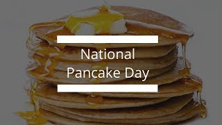 National Pancake Day!