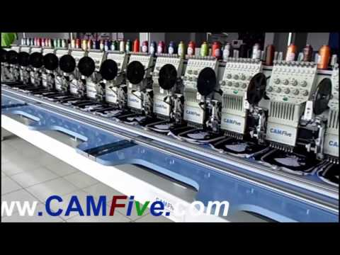 CAMFive 20 heads Industrial Embroidery machine model CFSE -920/10H Flat