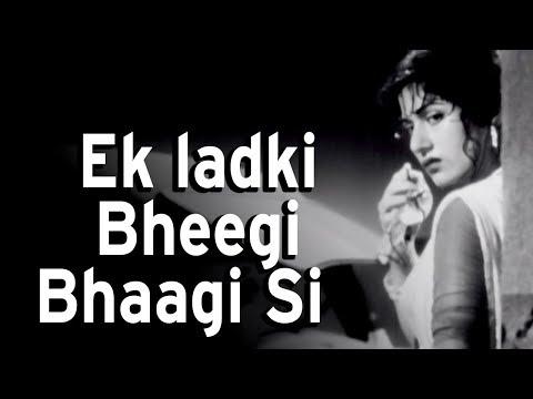Download Ek Ladki Bhigi Bhagi Si | Chalti Ka Naam Gaadi Songs | Kishore Kumar | Madhubala | Rain Song HD Mp4 3GP Video and MP3