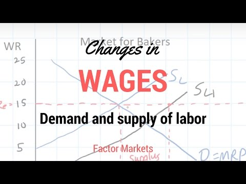 Labor Markets - Change in in Equilibrium Wage Rate and Level of Employment