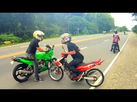 Kawasaki KR150 KRR vs Yamaha Jupiter MX LC135 Sniper with Fastest Raider in TNR Davao
