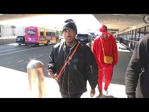 Tyga Faces A Plethora Of Sports Questions Upon Landing At LAX