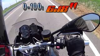 4. 2015 BMW F 700 GS 0-200 acceleration & top speed