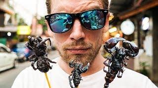 Spinnen & Skorpione probieren (24h Instagram Challenge) • Bangkok (Thailand) | Sarazar