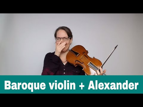 Introducing my baroque violin by James Wimmer; Alexander Technique with Bach at 20:16