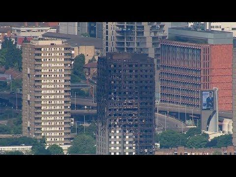 Se elevan a 17 muertos por el incendio en el edificio de Londres (видео)