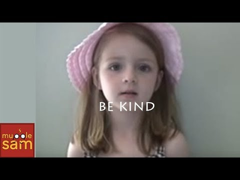 kind - My 5-year-old daughter's message of kindness. Please be kind and click to share this video http://clicktotweet.com/j4Oa5 :-D On our 8th year of youtube! Subs...