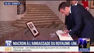 Video Manchester: Emmanuel Macron signe le registre de condoléances à l'ambassade britannique MP3, 3GP, MP4, WEBM, AVI, FLV Mei 2017