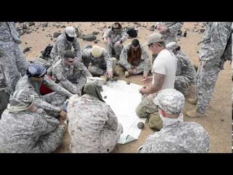 Airmen share survival skills with Marines and Soldiers.