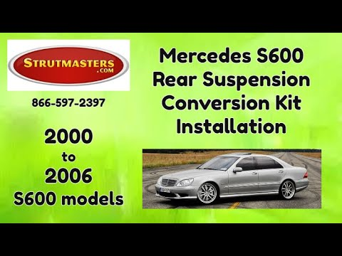 1999-2006 Mercedes S 600 With A Strutmasters Air Suspension Conversion (Rear Install Video)