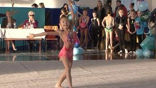 юные таланты. Соревнования по художественной гимнастике (репортаж)