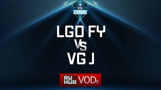 LGD Forever Young vs VG.J, ESL One Genting Quals, game 3 [Adekvat, 4ce]
