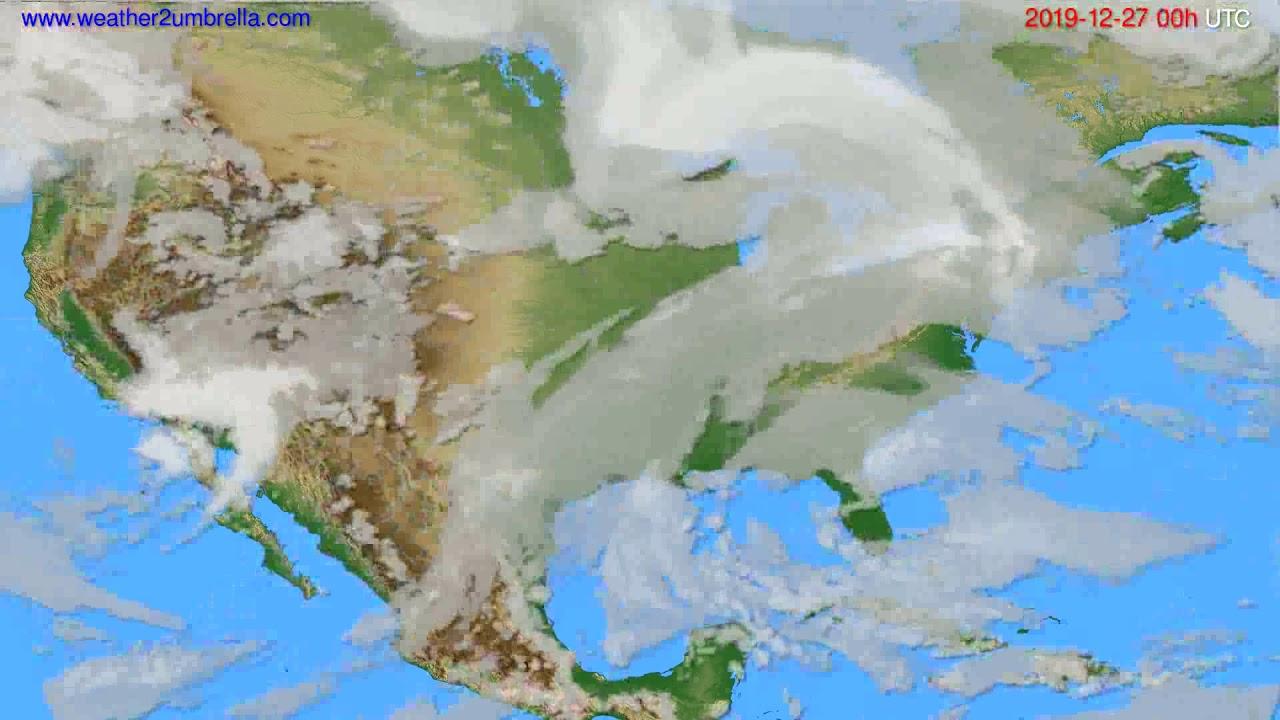Cloud forecast USA & Canada // modelrun: 00h UTC 2019-12-26