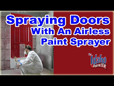 airless spray - A good video demonstration on painting exterior french doors with an airless sprayer. Masking, spay techniques, and masking removal. How to make you french d...